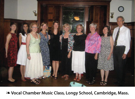 Singers at Longy concert in July 2010